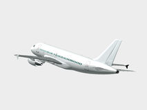 Airplane in the sky - Passenger aircraft in flight Stock Image