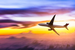 Airplane in the sky Stock Photo