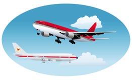 Airplane sky take-off Stock Photos