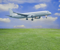 Airplane in sky Stock Photos