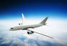 Airplane Skyline Horizon Flight Cloud Concept Royalty Free Stock Photos