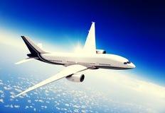 Airplane Skyline Horizon Flight Cloud Concept Stock Image