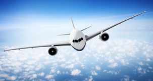 Airplane Skyline Horizon Flight Cloud Concept Royalty Free Stock Images