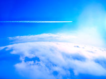 Airplane Smoke Trails (condensation Trails) Royalty Free Stock Images