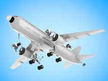 Airplane split off machine parts Royalty Free Stock Images