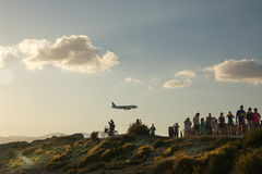 Airplane spotting Stock Photography