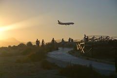 Airplane spotting Royalty Free Stock Image