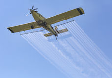 Airplane Spraying Chemicals Royalty Free Stock Image