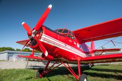 Airplane AN-2 in the State Aviation Museum royalty free stock image