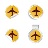Airplane sticker vector Royalty Free Stock Photography