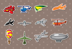 Airplane stickers Stock Photos