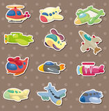 Airplane stickers Stock Photo