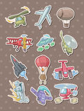 Airplane stickers Stock Images