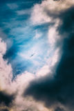 Airplane in storm Royalty Free Stock Image