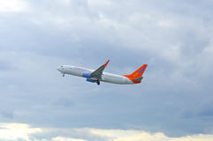 Airplane of Sunwing Royalty Free Stock Photography