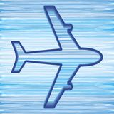 Airplane symbol Stock Photography