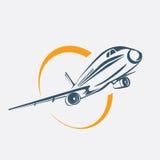 Airplane symbol Stock Photo