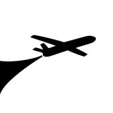 Airplane symbol design Stock Photo