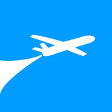 Airplane symbol design Royalty Free Stock Photos