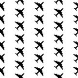 Airplane symbol seamless pattern Stock Images