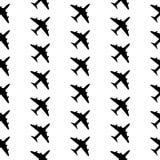 Airplane symbol seamless pattern Stock Images
