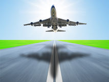 Airplane take off Royalty Free Stock Photography