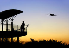Airplane take-off Royalty Free Stock Image