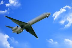 Airplane take off Royalty Free Stock Photo