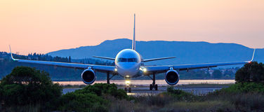Airplane before take-off Royalty Free Stock Images