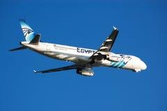 Airplane take-off Stock Image