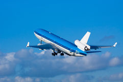 Airplane on takeoff Stock Photo