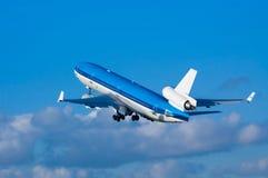 Airplane on takeoff Stock Photo