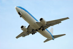 Airplane on takeoff Stock Photography