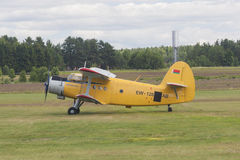 Airplane AN-2 on Takeoff and Landing Strip Royalty Free Stock Images