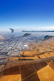 Airplane takeoff from Madrid barajas in Spain Royalty Free Stock Photo