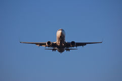 Airplane takes off Stock Image