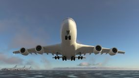 Airplane takes off from the runway Royalty Free Illustration