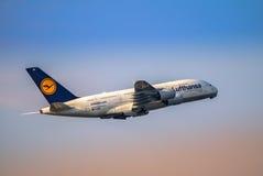Airplane taking off Stock Photos