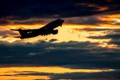 Airplane taking off Stock Image