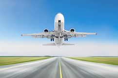 Free Airplane Taking Off From The Runway Airport Sky Blue. Royalty Free Stock Photo - 116627655