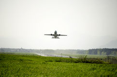 Airplane taking off Stock Photography