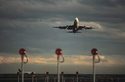 Airplane taking off Melbourne Australia Stock Photos
