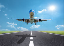 Airplane taking off royalty free stock image