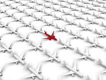 Airplane target in crowd concept Royalty Free Stock Images