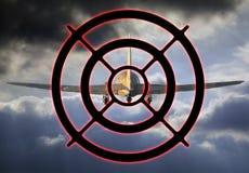 Airplane target Stock Photo