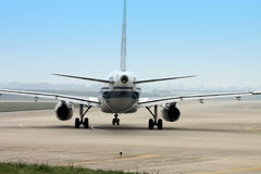 Airplane Taxi Royalty Free Stock Photo