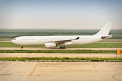 Airplane Taxiing Stock Photo