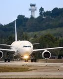 Airplane taxiing Stock Image
