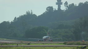 Airplane taxiing stock footage