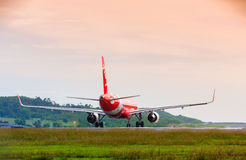 Airplane taxiing Royalty Free Stock Photography